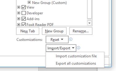 Export Customizations
