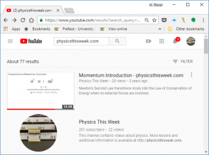 YouTube is where you can find lots of videos from physicsthisweek.com